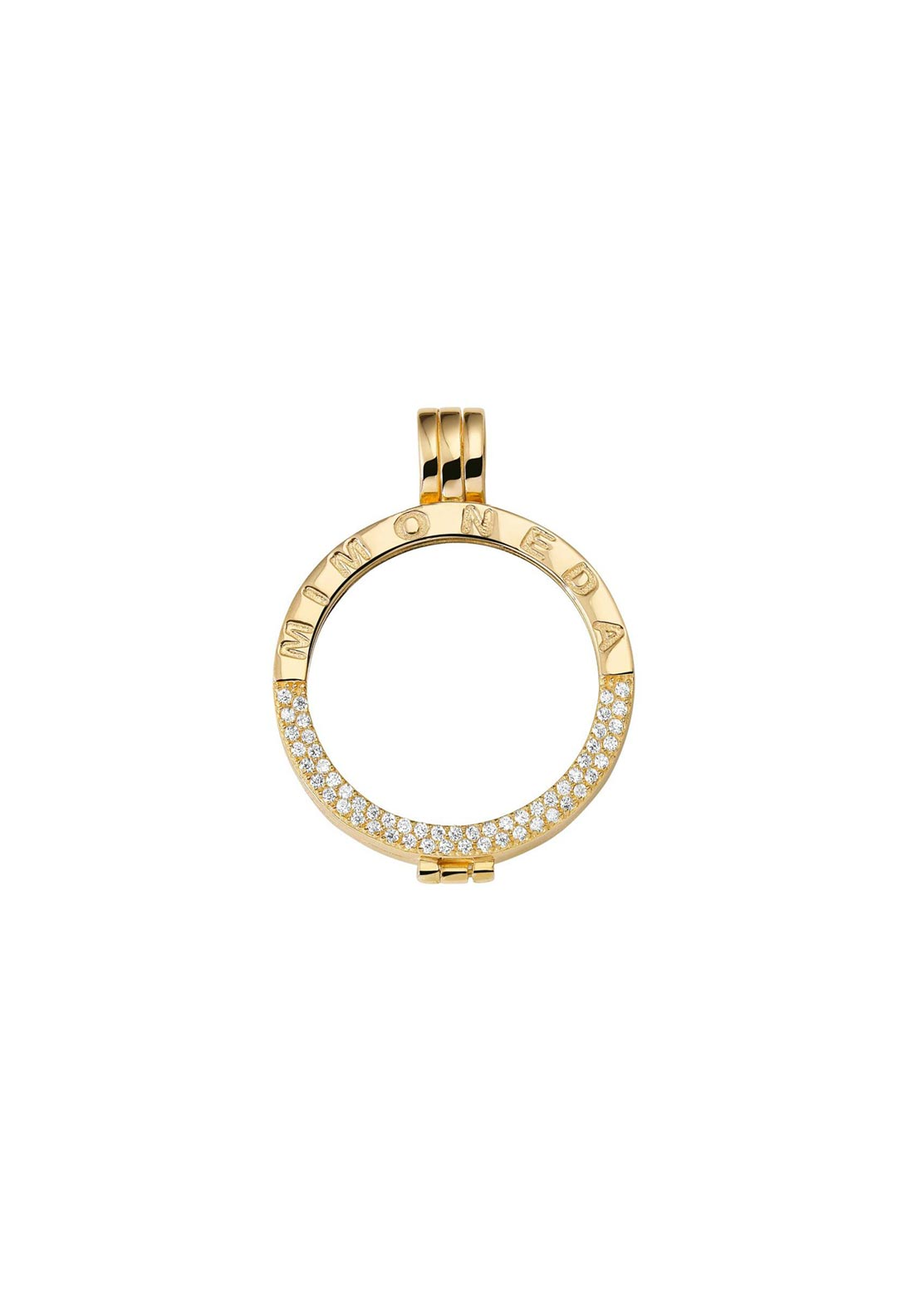 Mi Moneda Small Crystal Pendant Holder, Gold