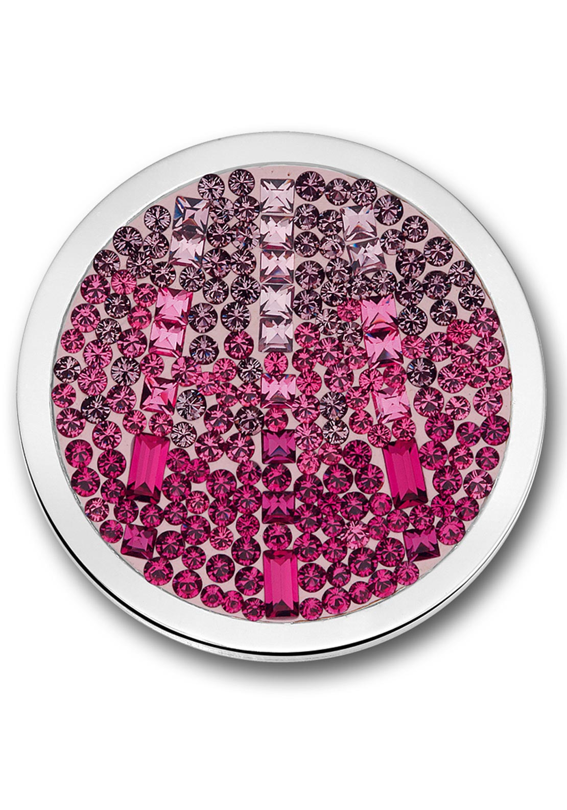Mi Moneda Large Swarovski Cascada Moneda Coin, Hot Pink