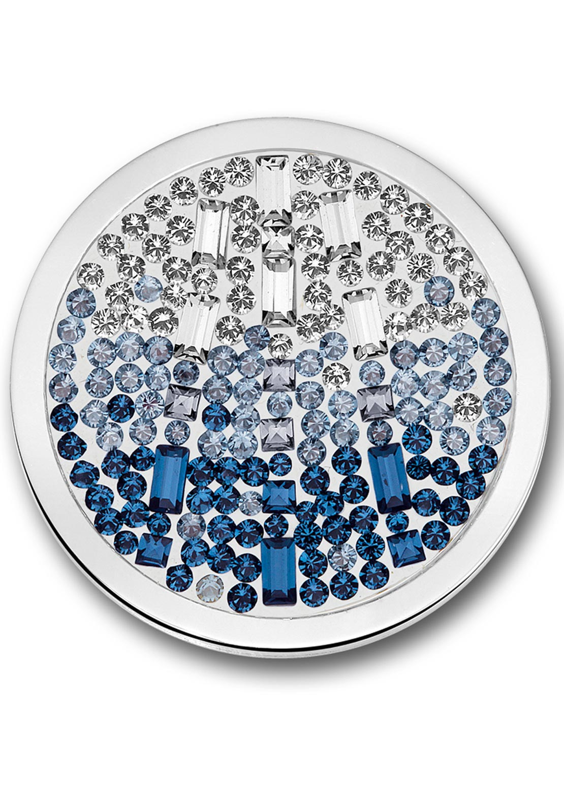 Mi Moneda Large Swarovski Cascada Moneda Coin, Pacific Blue