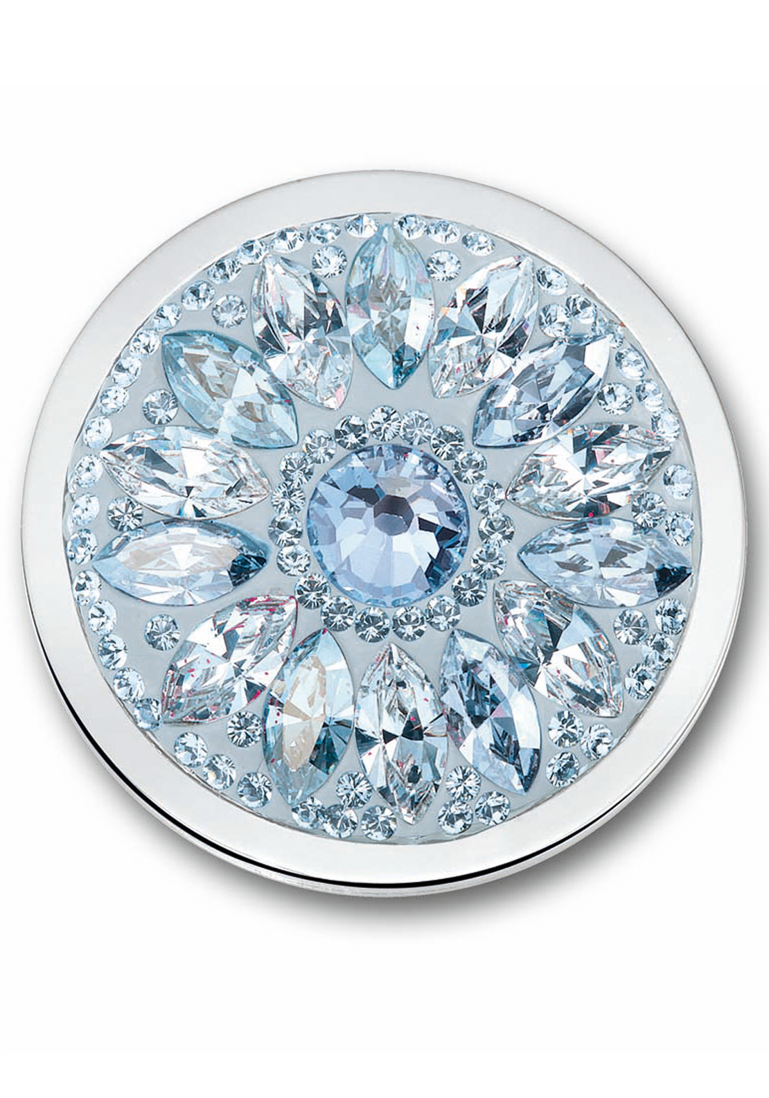 Mi Moneda Large Swarovski Dalia Moneda Coin, Ice Blue