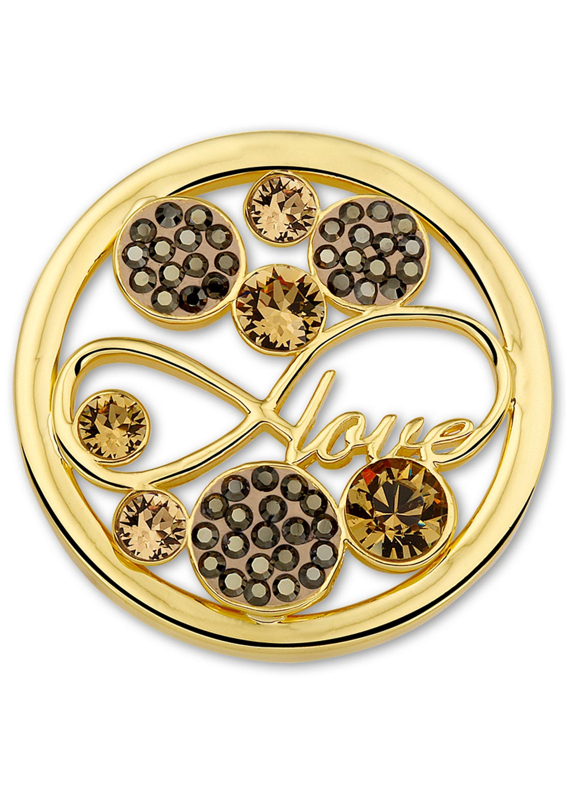 Mi Moneda Large Love Moneda Coin, Champagne