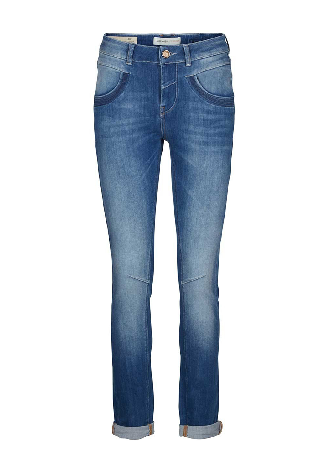 Mos Mosh Naomi Freedom Tapered Jeans, Blue