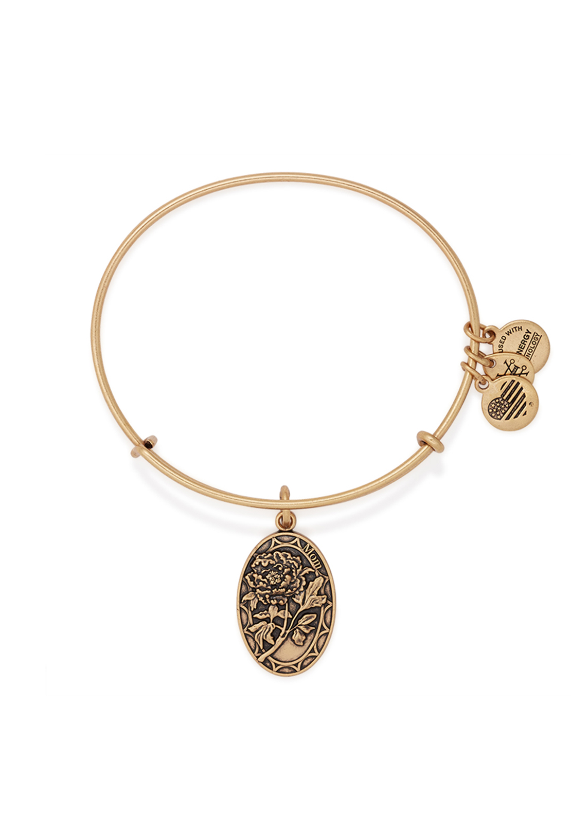 Alex and Ani Because I Love You Mom Bangle Gold