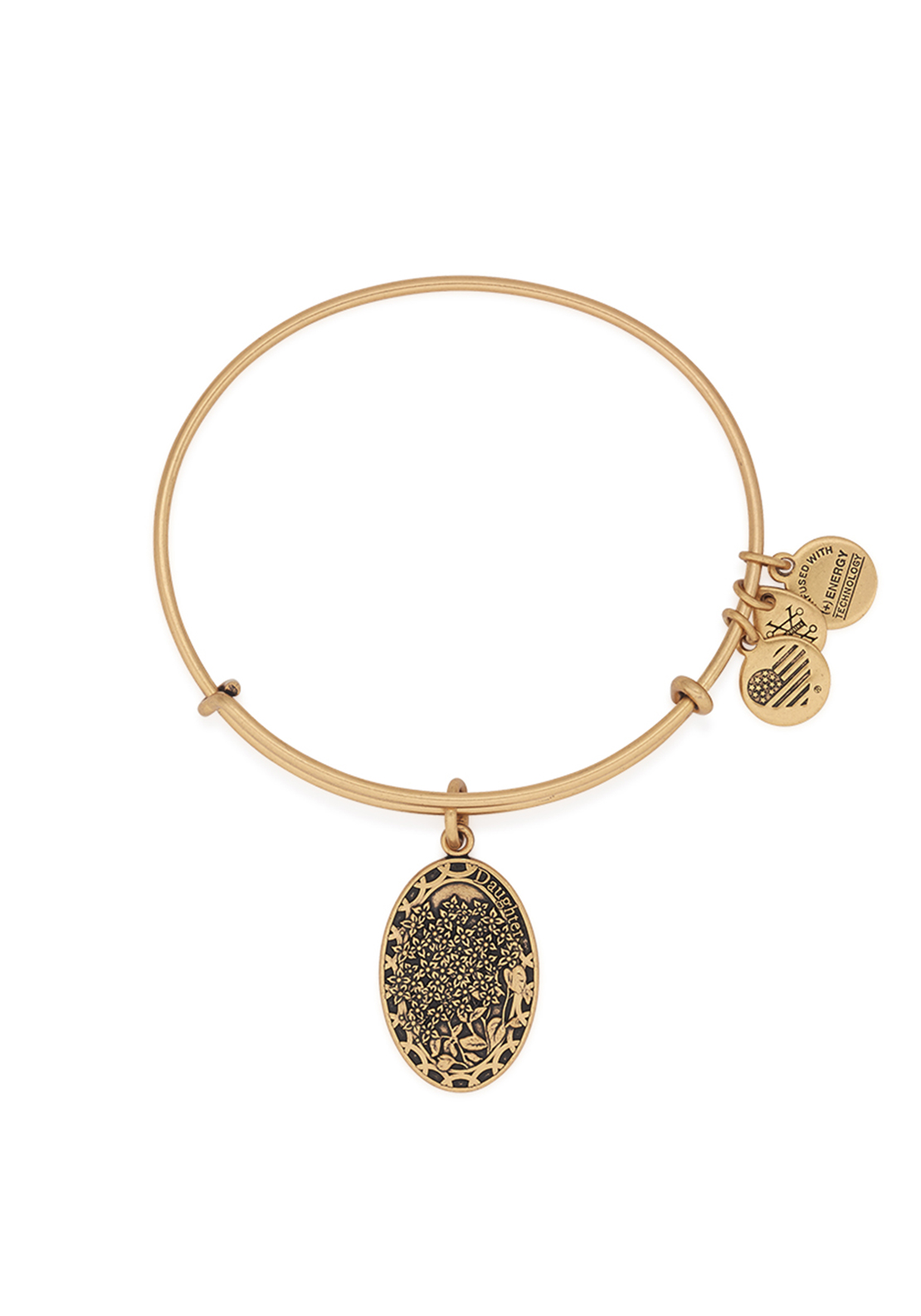 Alex and Ani Because I Love You Daughter Bangle Gold
