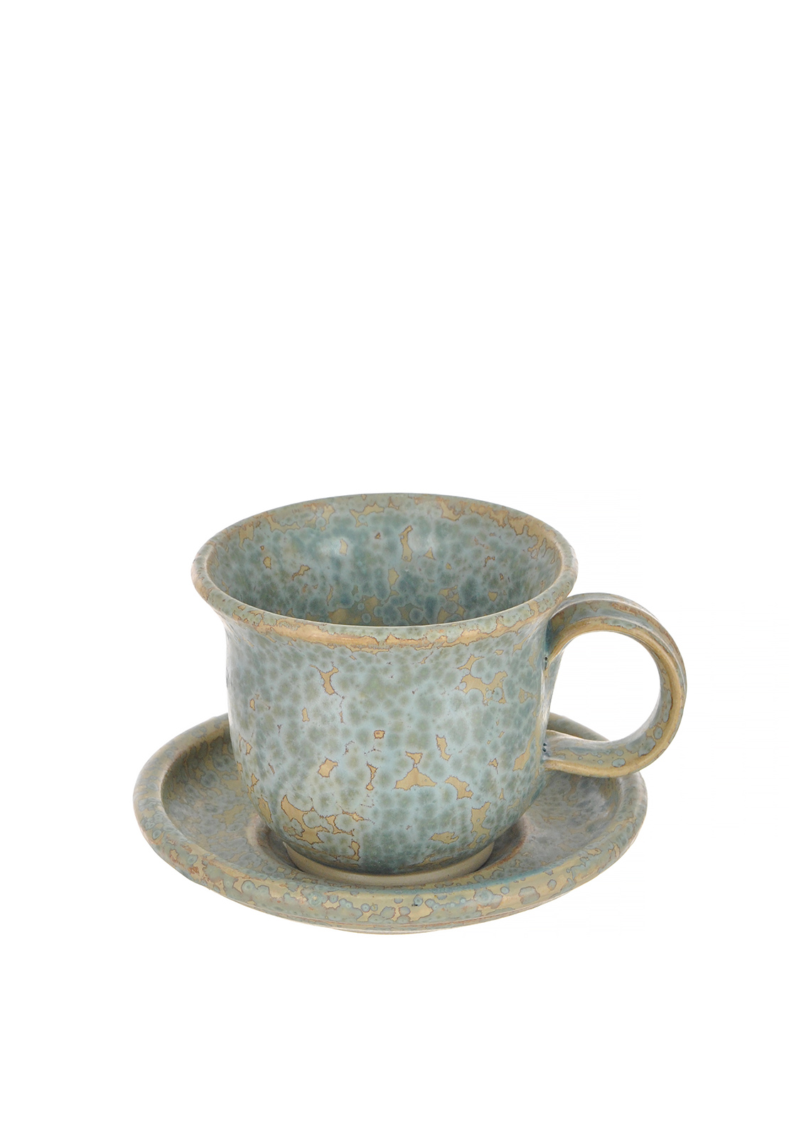 Moville Pottery Tea Cup & Saucer Set