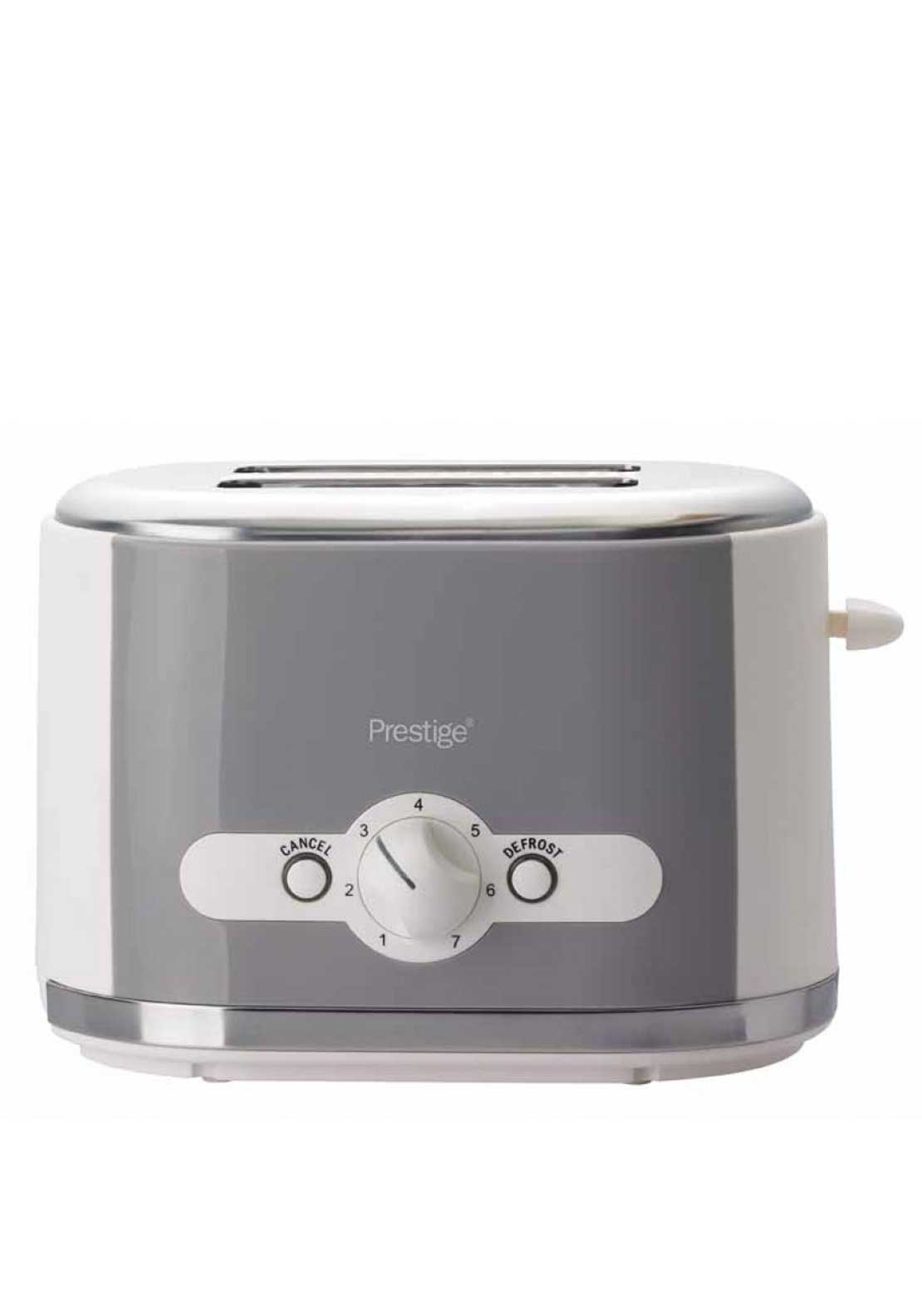 Prestige Pebble 2 Slice Toaster, Grey & White