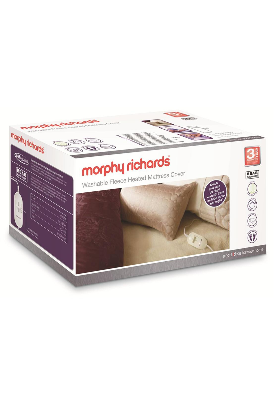 Morphy Richards Washable Fleece Heated Mattress Cover, Single