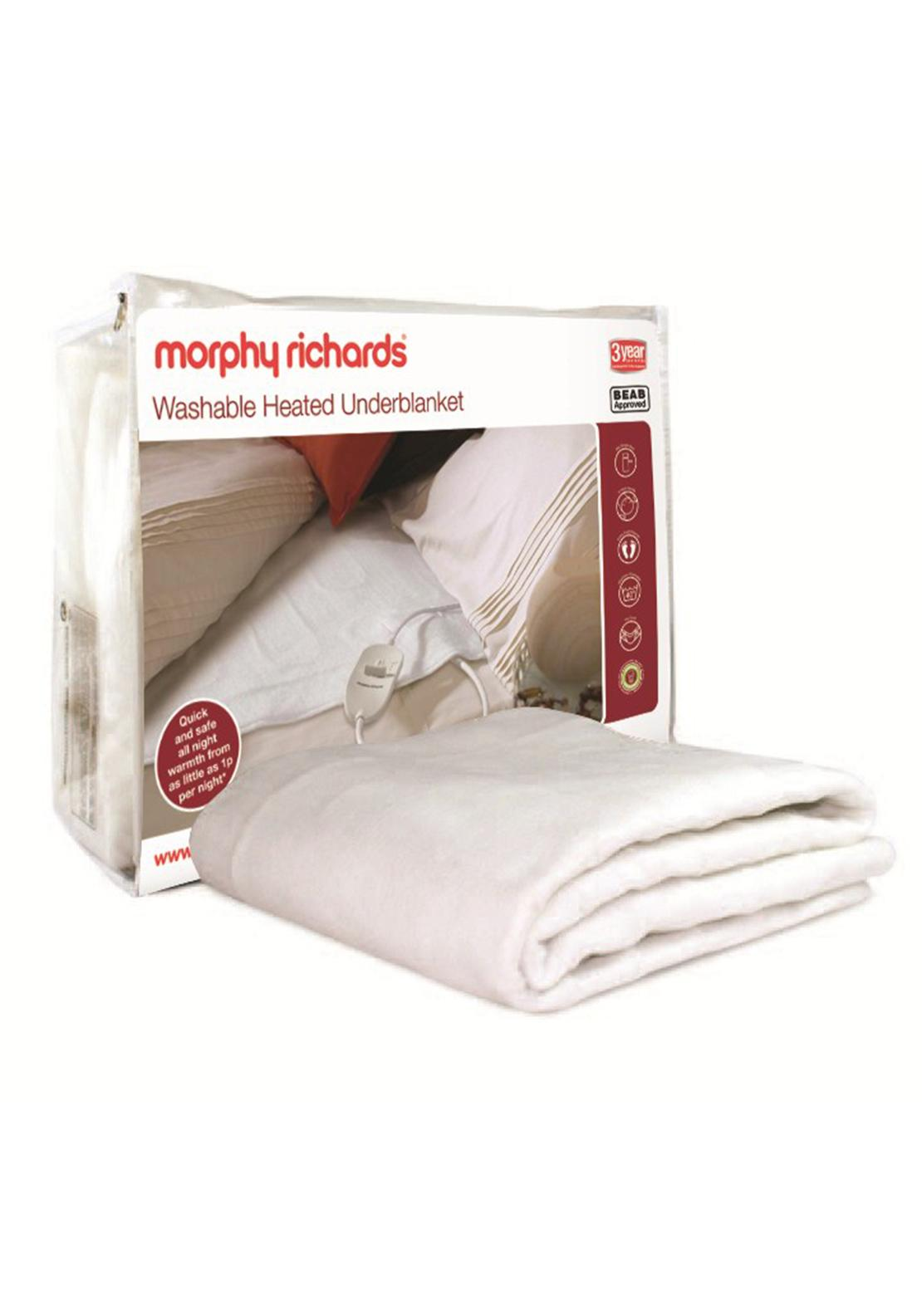 Morphy Richards Washable Heated Underblanket, Double