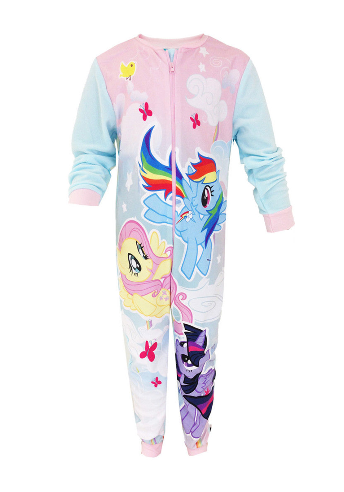My Little Pony Girls Onsie Sleepsuit, Pink