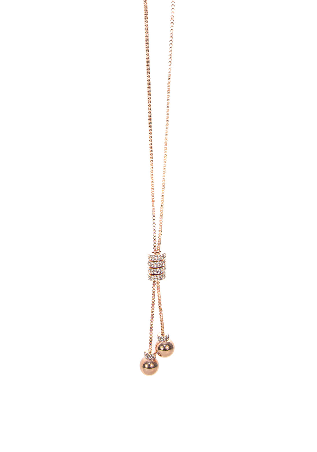 Absolute Jewellery Pave Toggle Long Necklace
