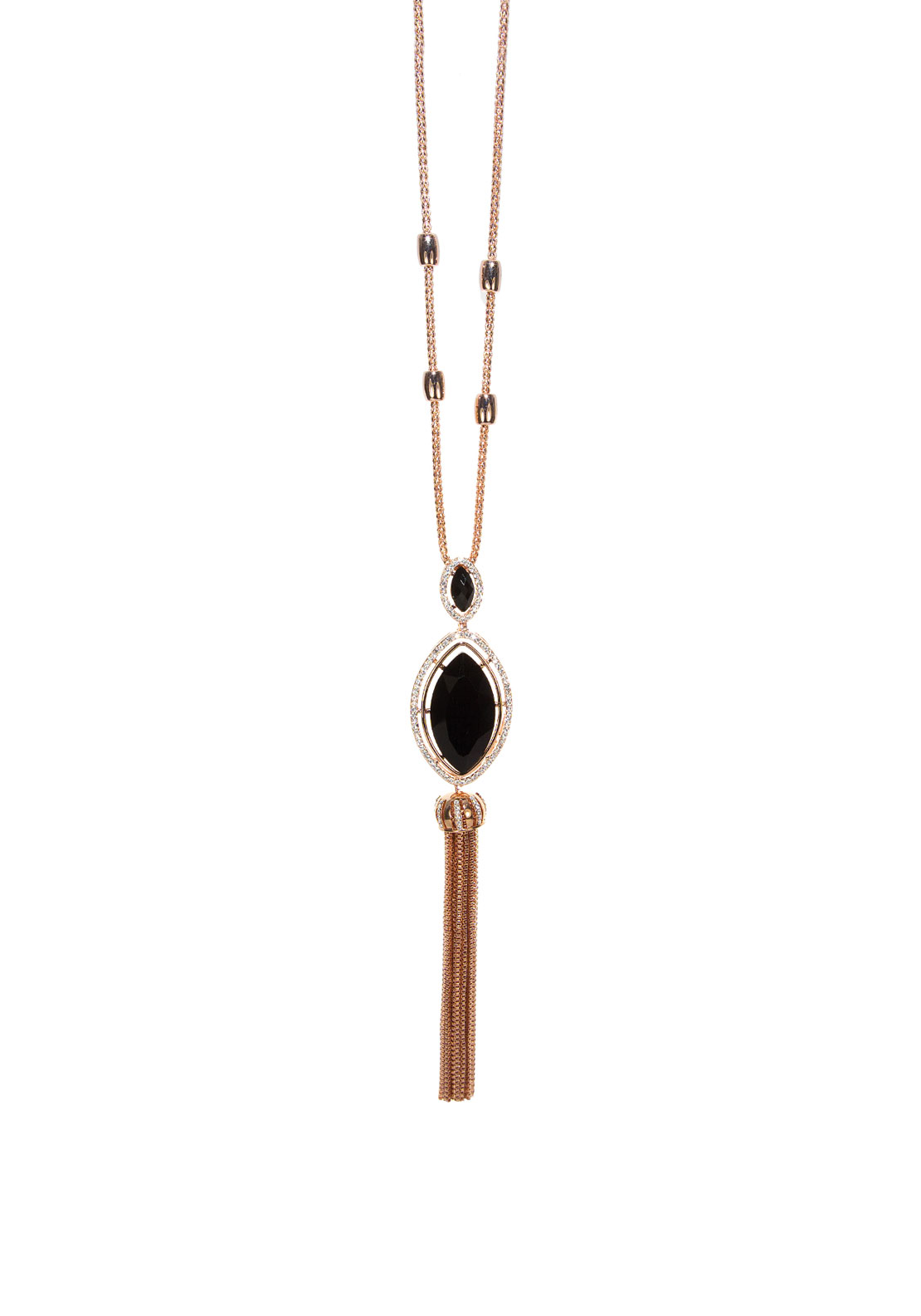 Absolute Jewellery Tassle Trim Long Necklace