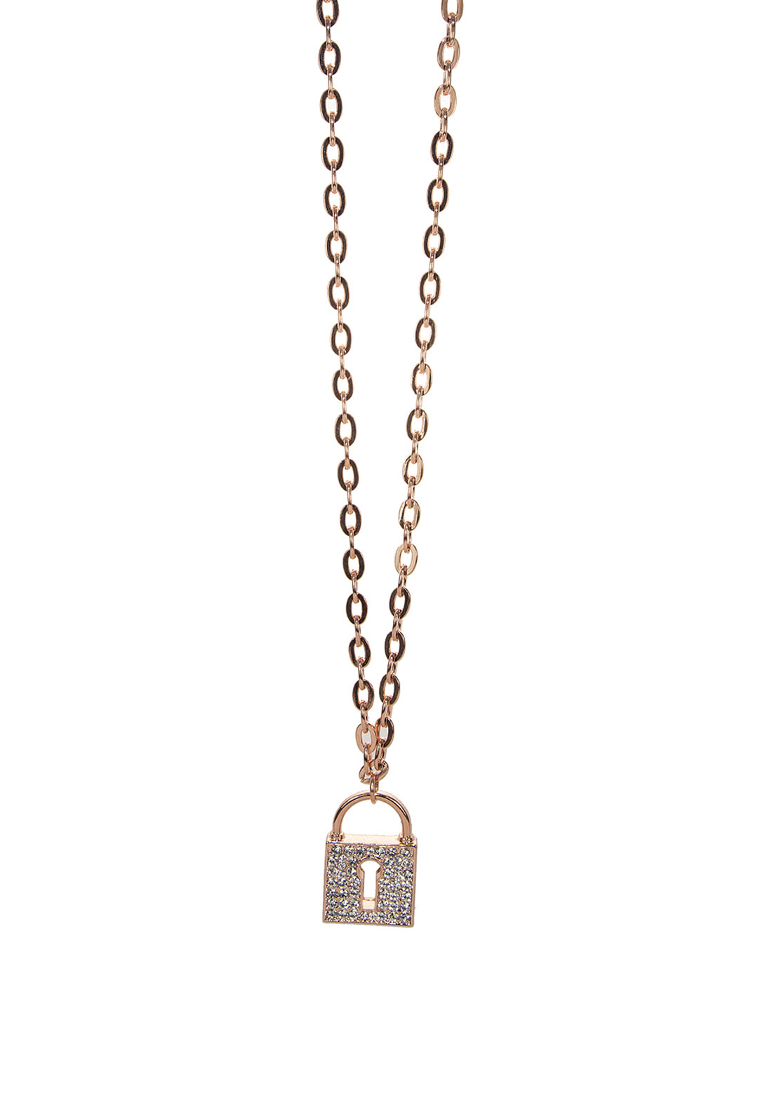 Absolute Jewellery Padlock Pendant Long Necklace