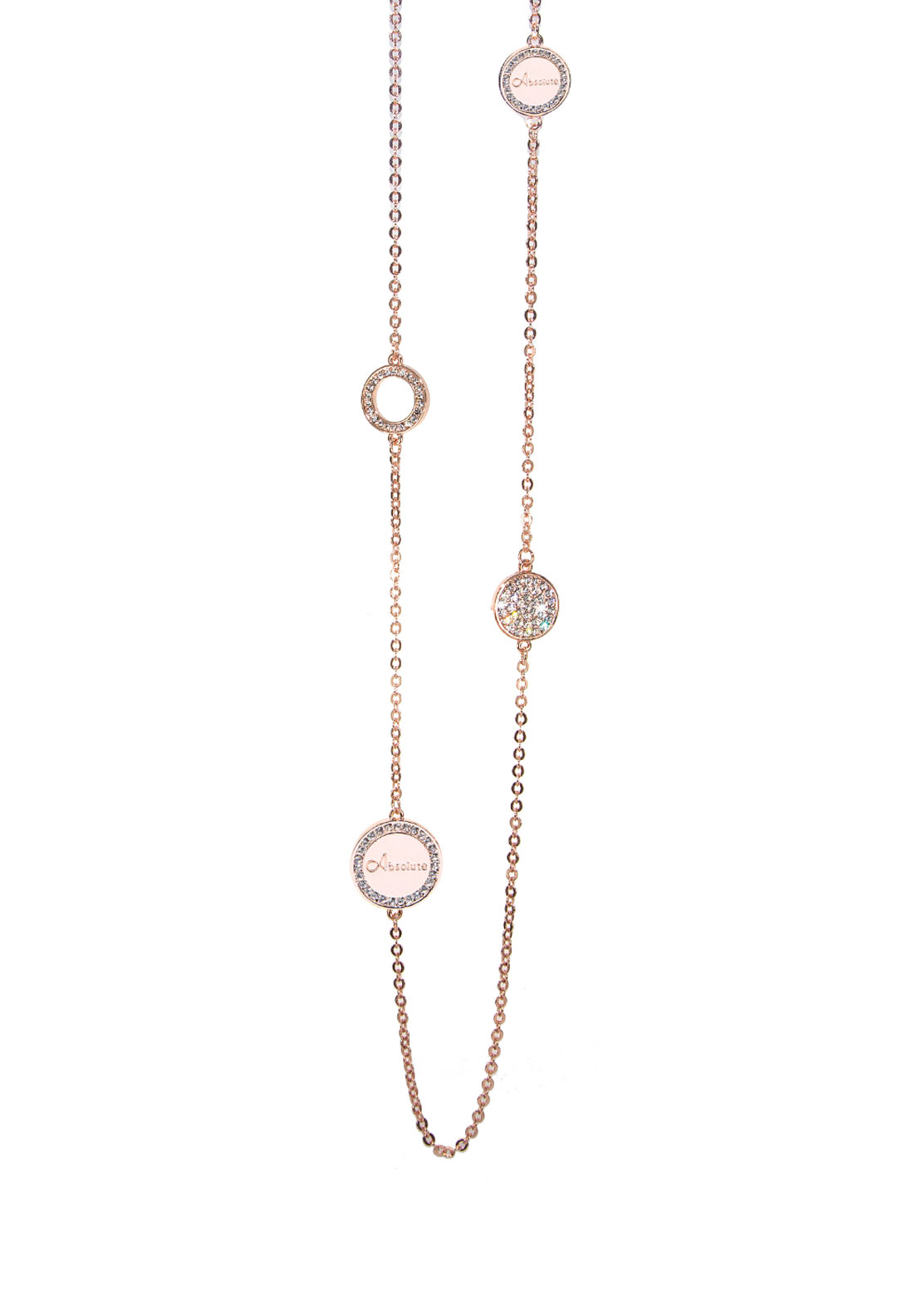 Absolute Jewellery Embellished Disc Long Necklace