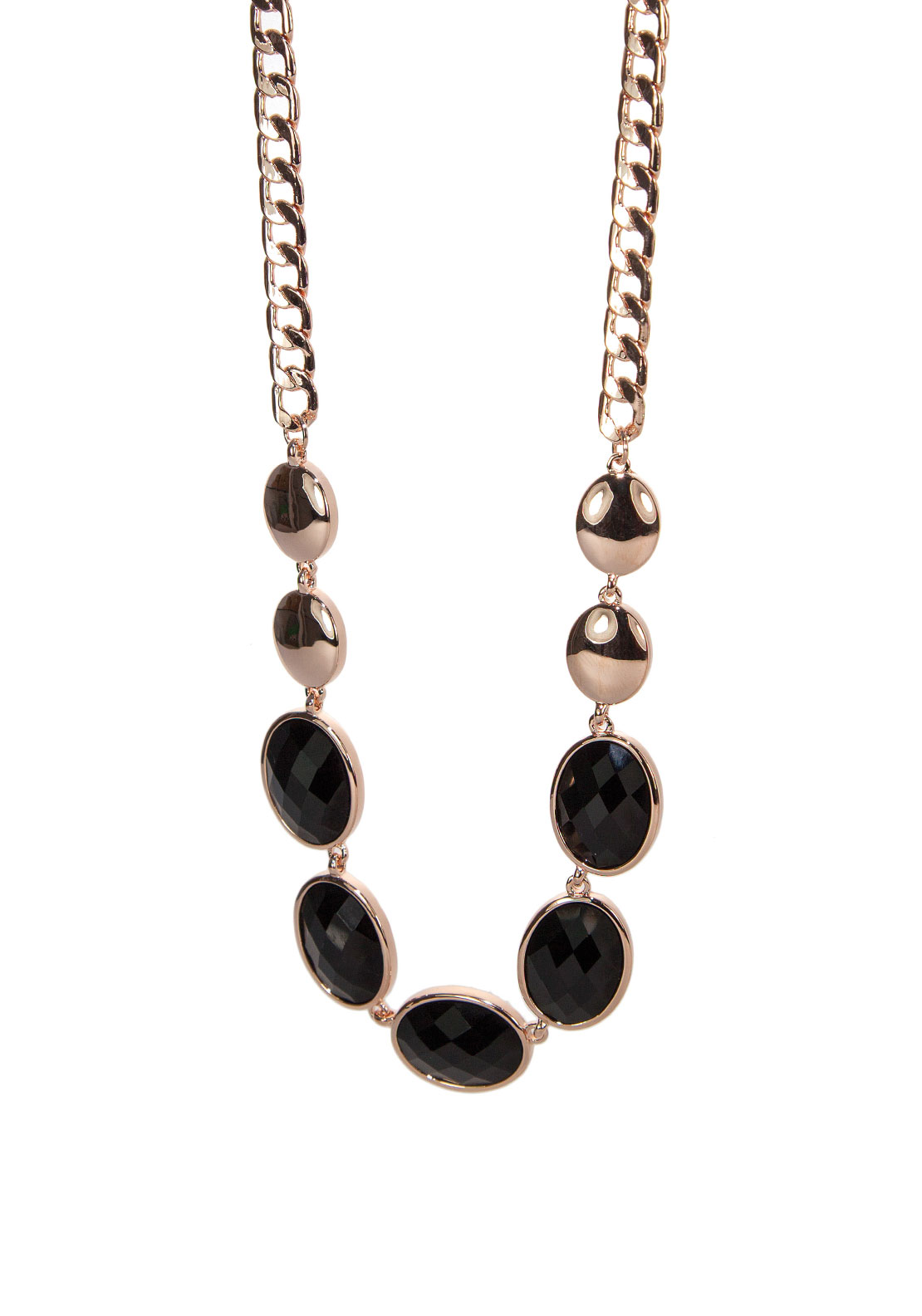 Absolute Jewellery Black Gemstone Necklace