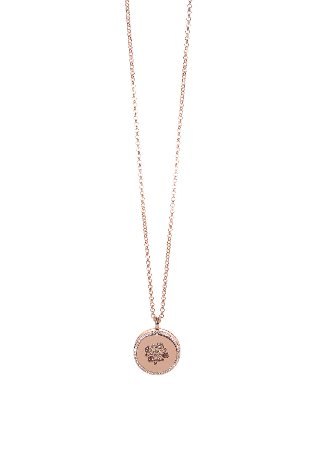 Absolute Jewellery Crystal Coin Long Necklace
