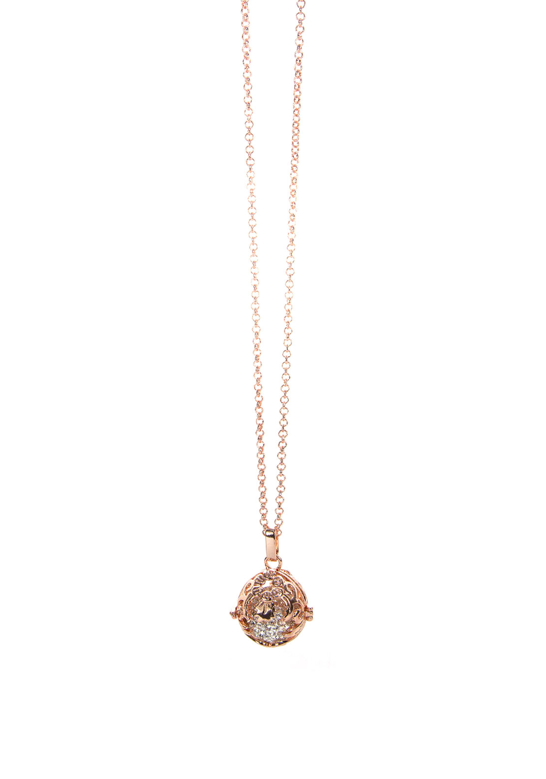 Absolute Jewellery Pave Locket Long Necklace