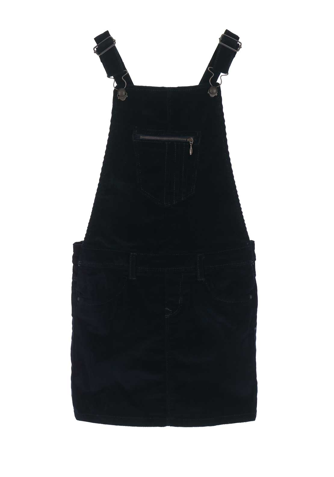 Name It Girls Lone Cord Dungaree Dress, Navy