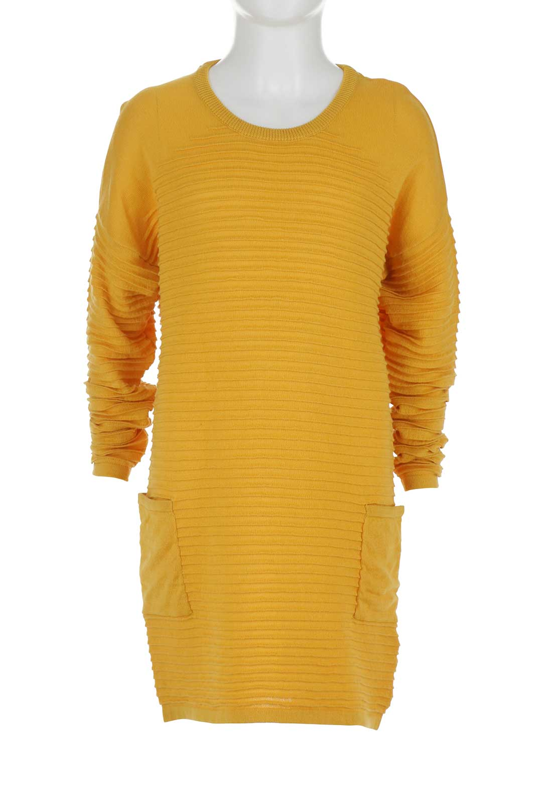 Name It Girls Wilda Knit Dress, Mustard Yellow