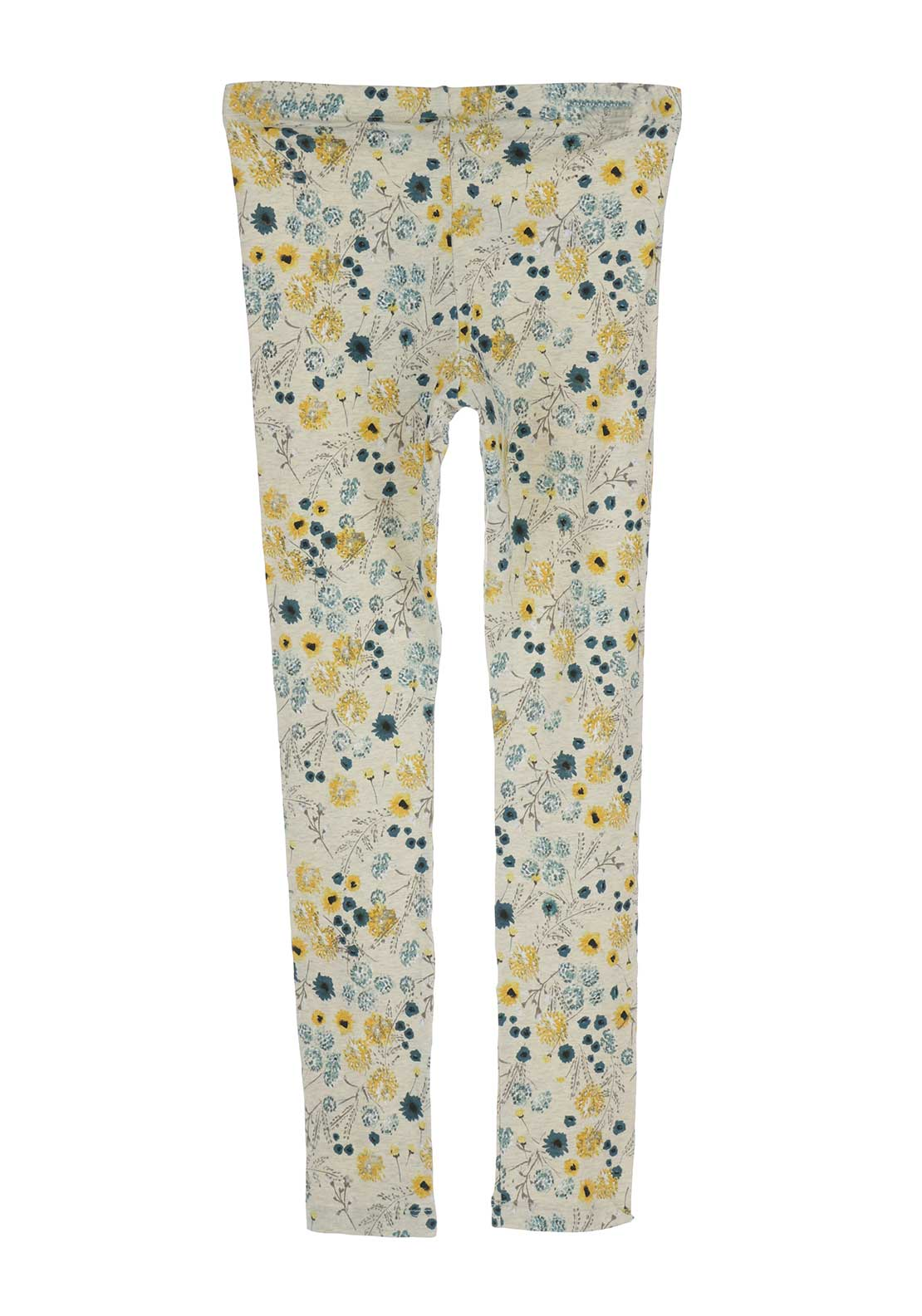 Name It Girls Kulin Floral Leggings, Beige