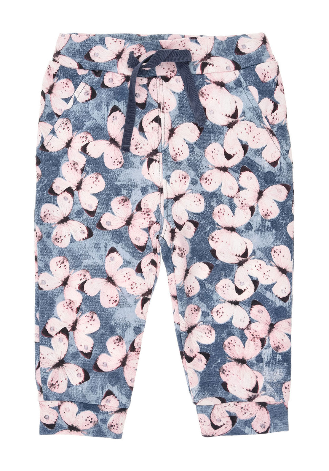 Name It Baby Girls Gamilla Butterfly Trousers, Blue