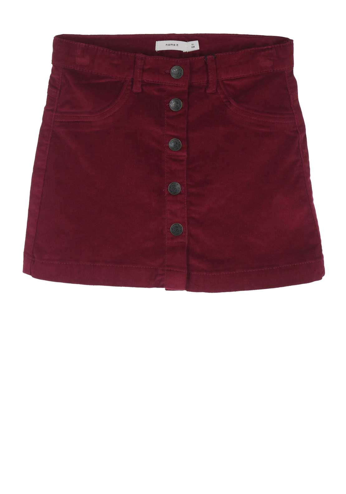Name It Girls Lone Cord Skirt, Wine