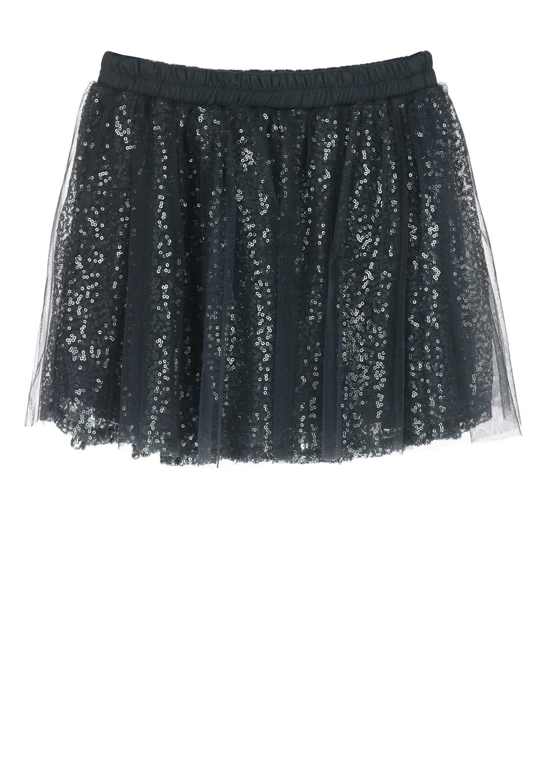 Name it Girls Wilfe Tulle Sequin Skirt, Grey