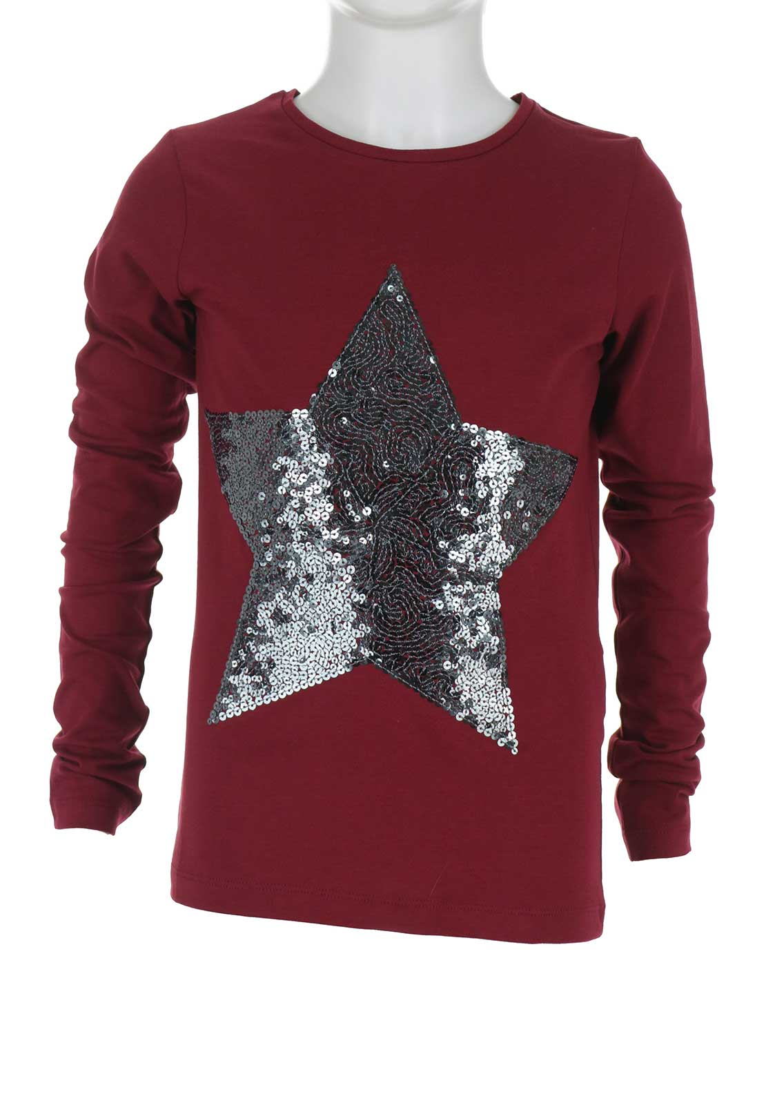 Name It Girls Pastar Sequin Top, Wine