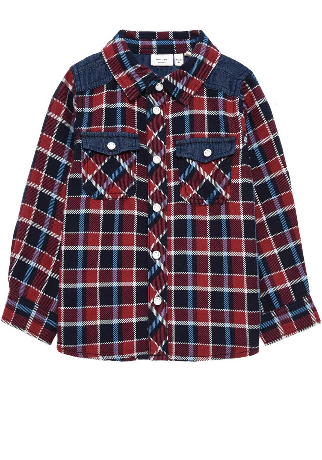 Name It Mini Boys Lork Shirt, Red