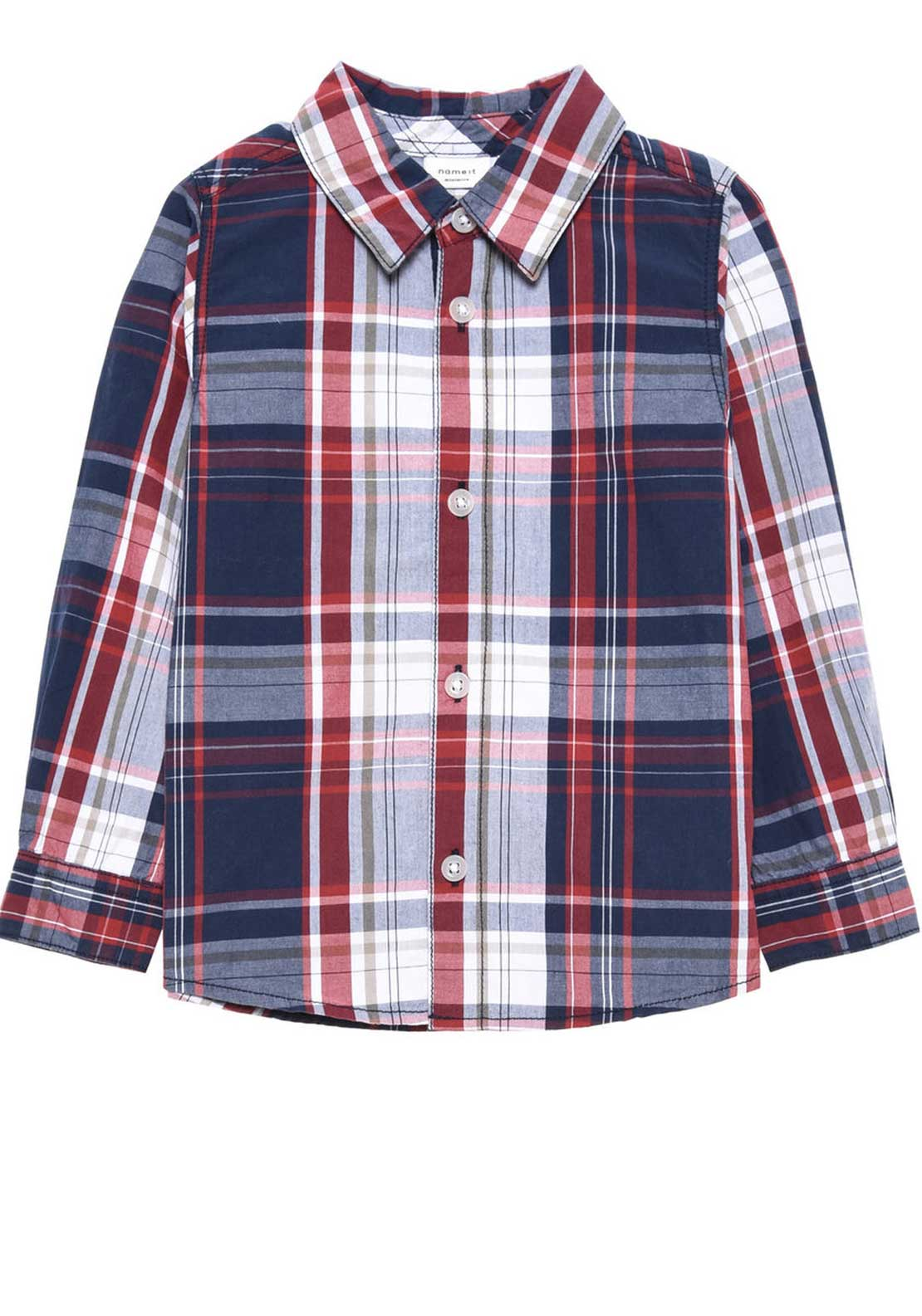 Name It Mini Boys Nohn Check Shirt, Red