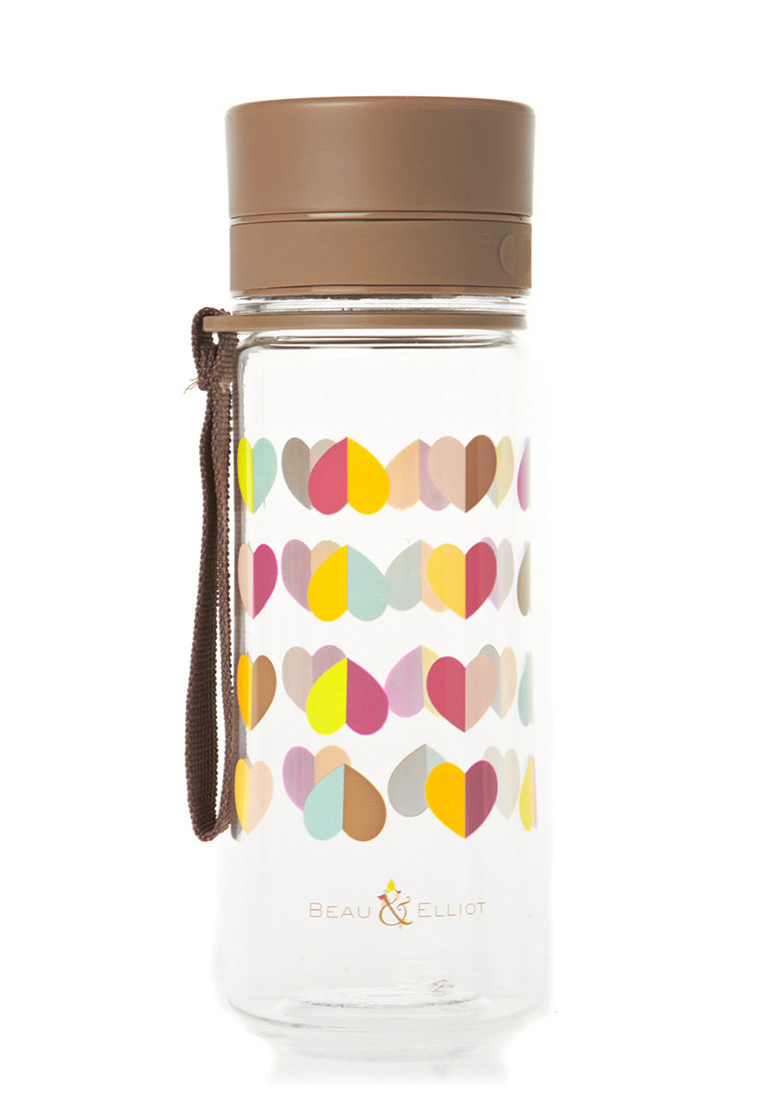 Beau & Elliot Confetti Heart Print 500ml Hydration Bottle, Multi-Coloured