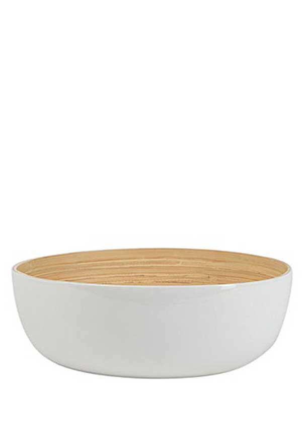 Rebu Bamboo White Fruit Bowl