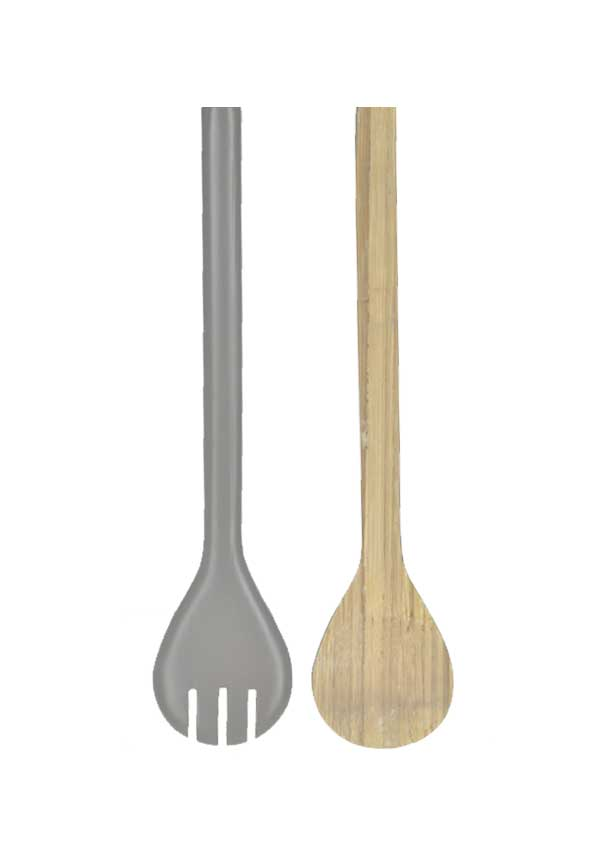 Rebu Bamboo White Salad Server