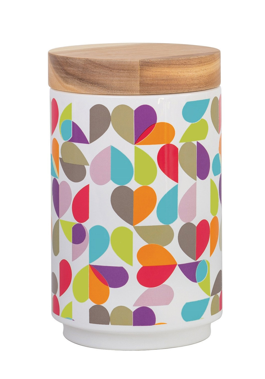 Beau & Elliot Broken Hearted Biscuit Jar, Multi-Coloured