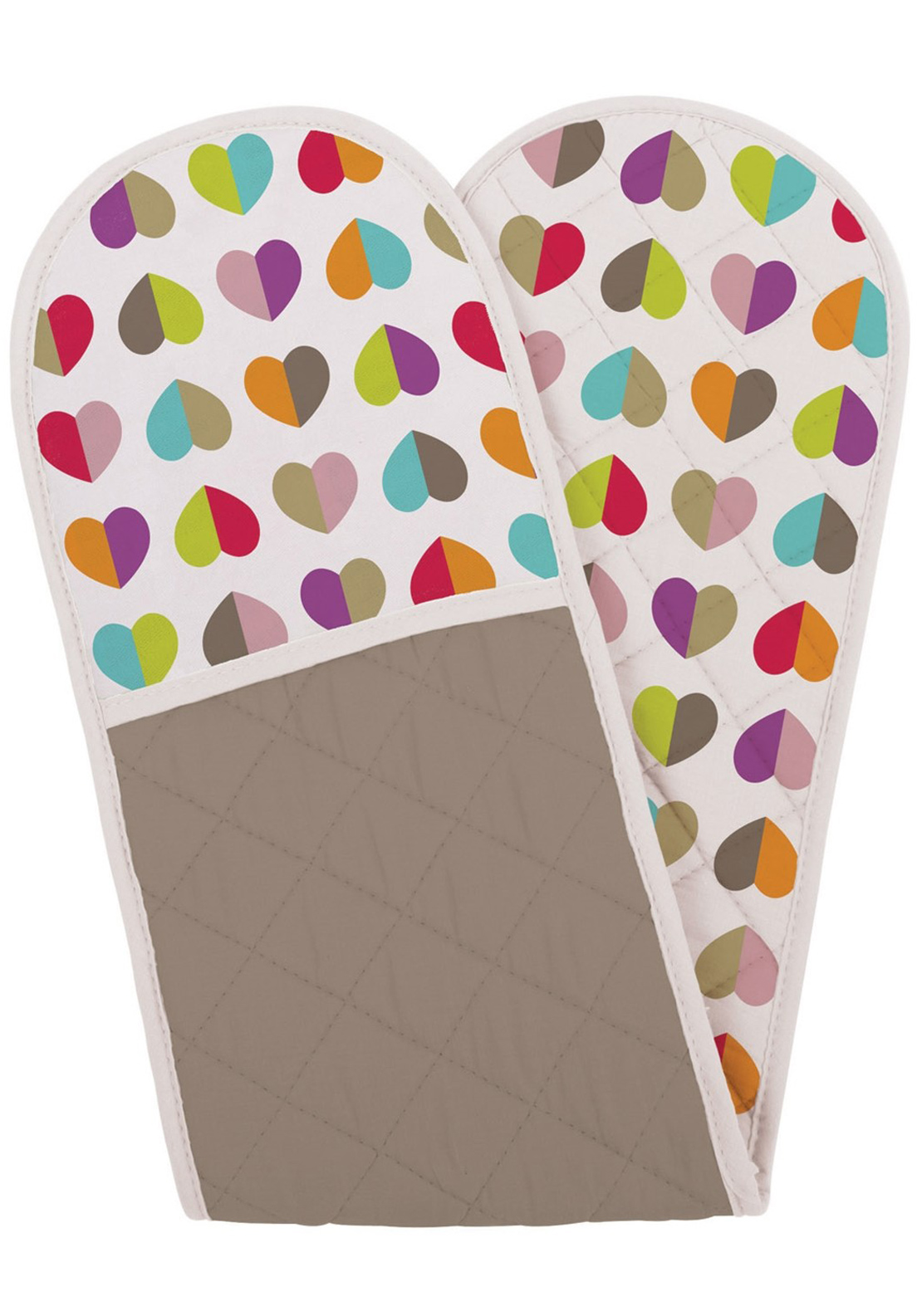 Beau & Elliot Confetti Heart Pink Oven Gloves, Multi-Coloured