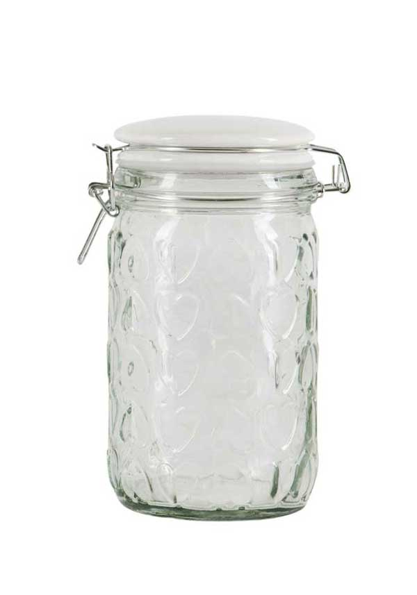 Beau & Elliot Medium Confetti Embossed Storage Jar