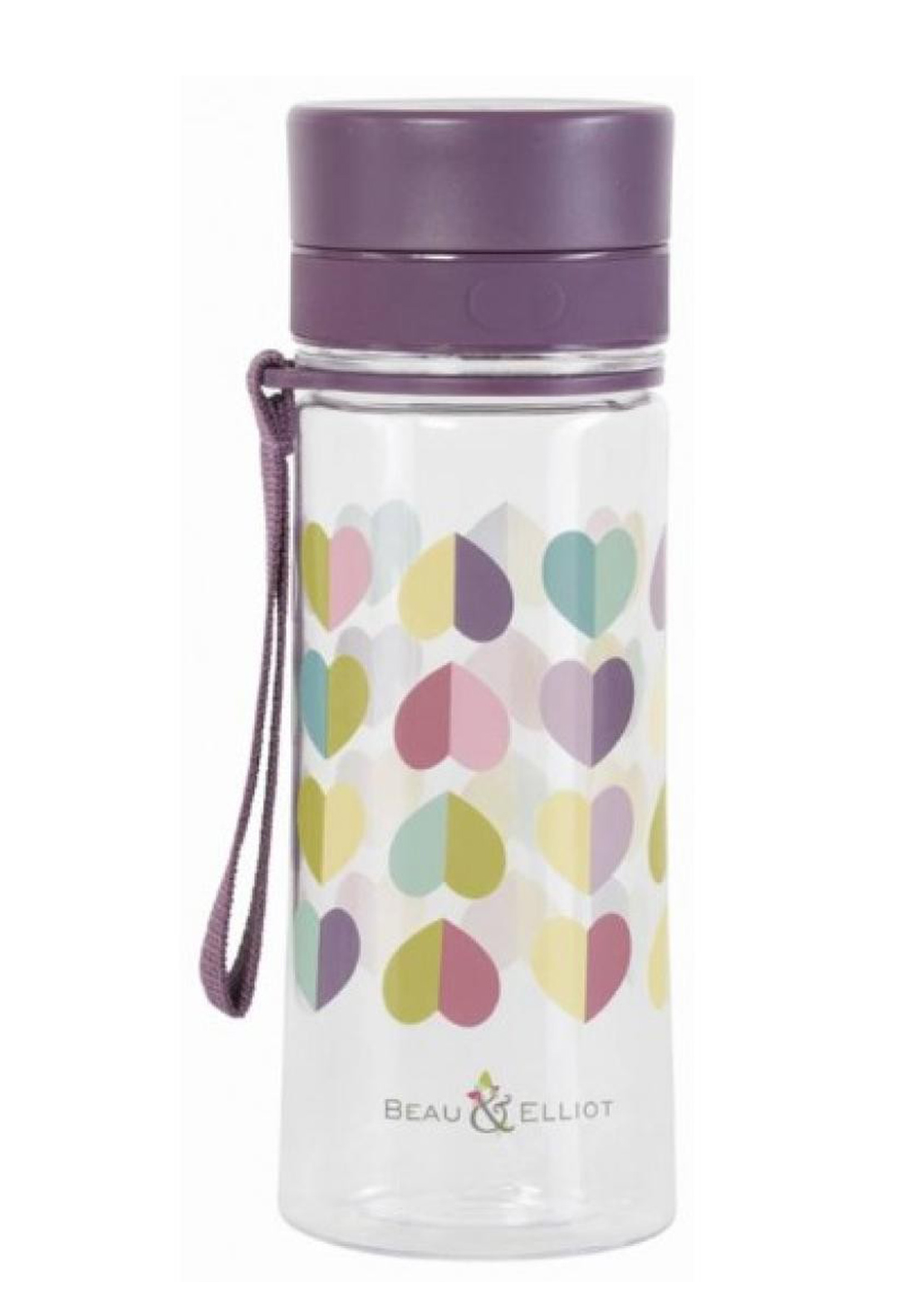 Beau & Elliot Vintage Confetti Heart Print 500ml Hydration Bottle, Multi-Coloured