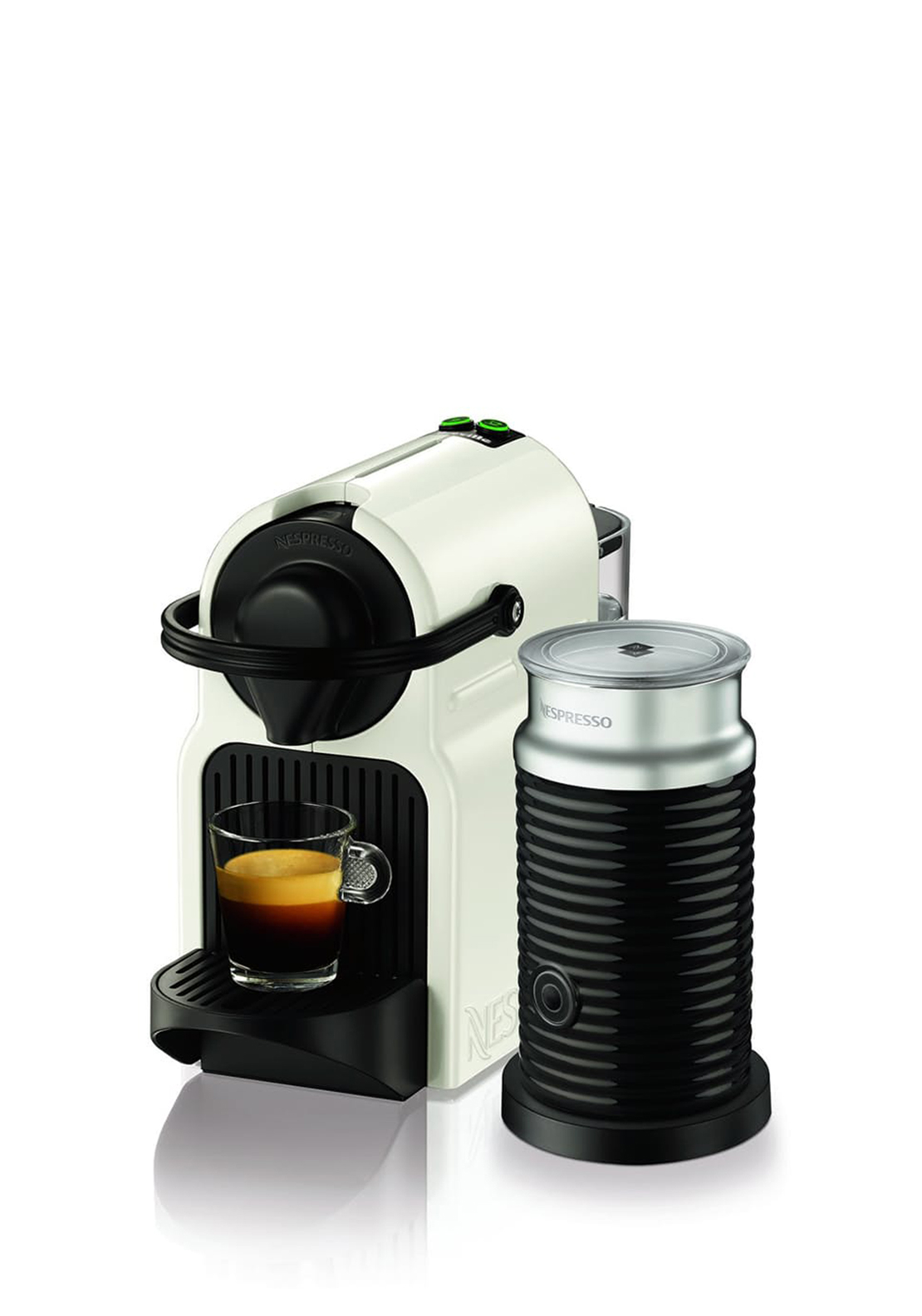 Nespresso Inissia & Aeroccino3 Krups Coffee Machine, White