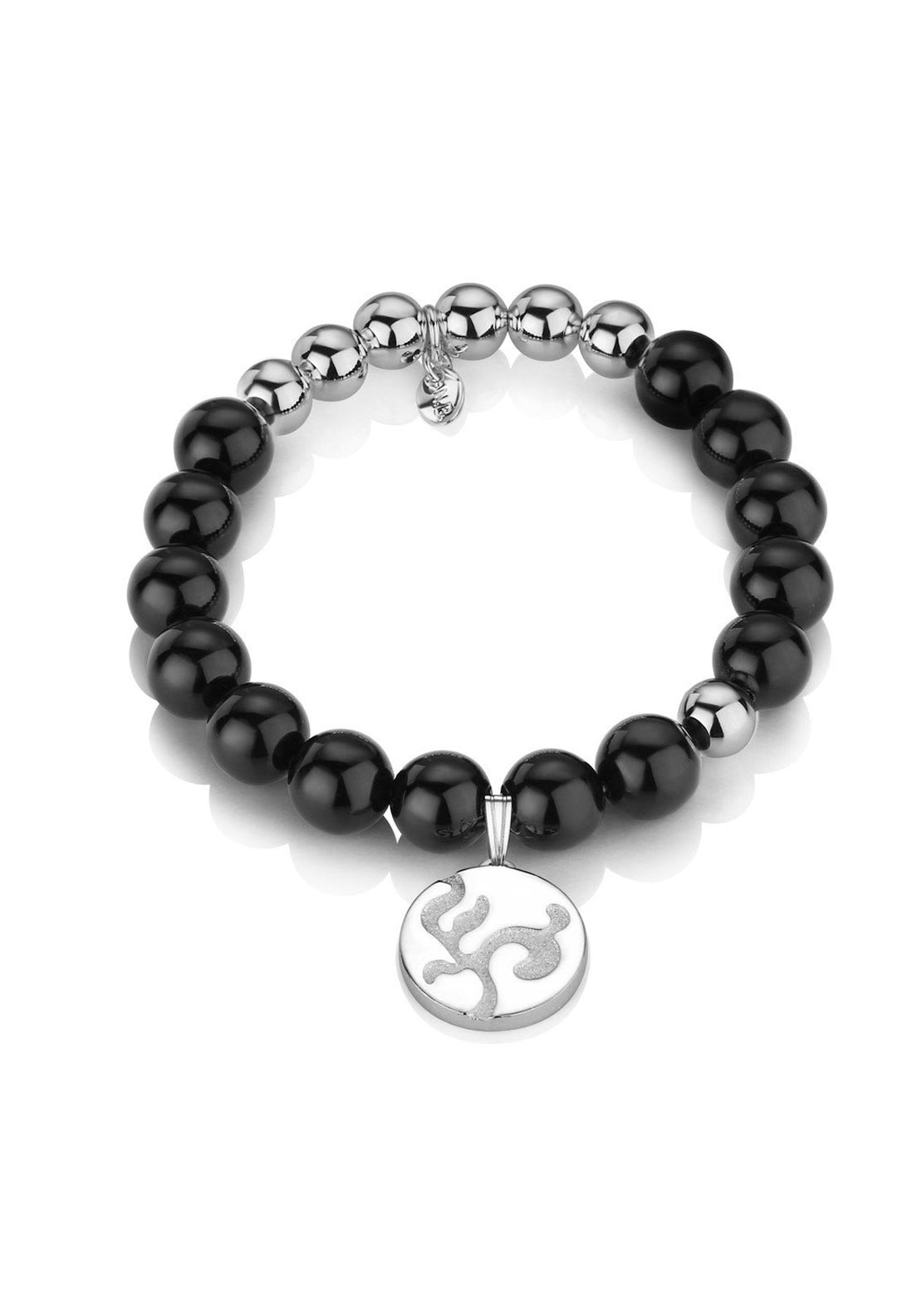Newbridge Beaded Bracelet with Charm, Black
