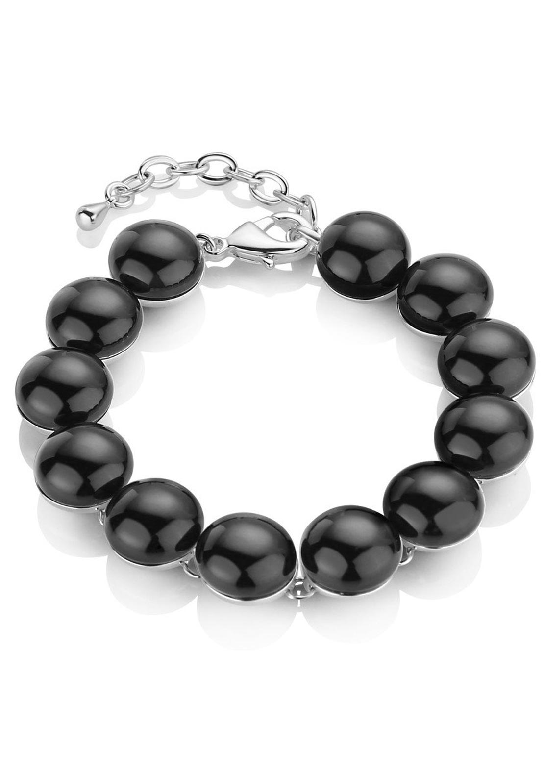 Newbridge Stone Link Bracelet, Black