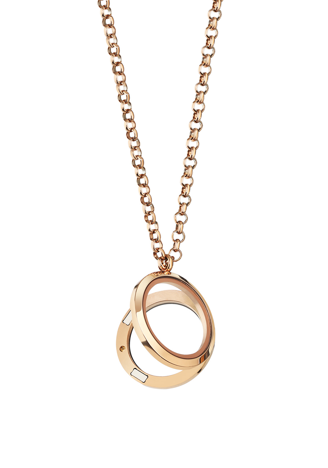 Newbridge Rose Gold Plate Locket, Rose Gold