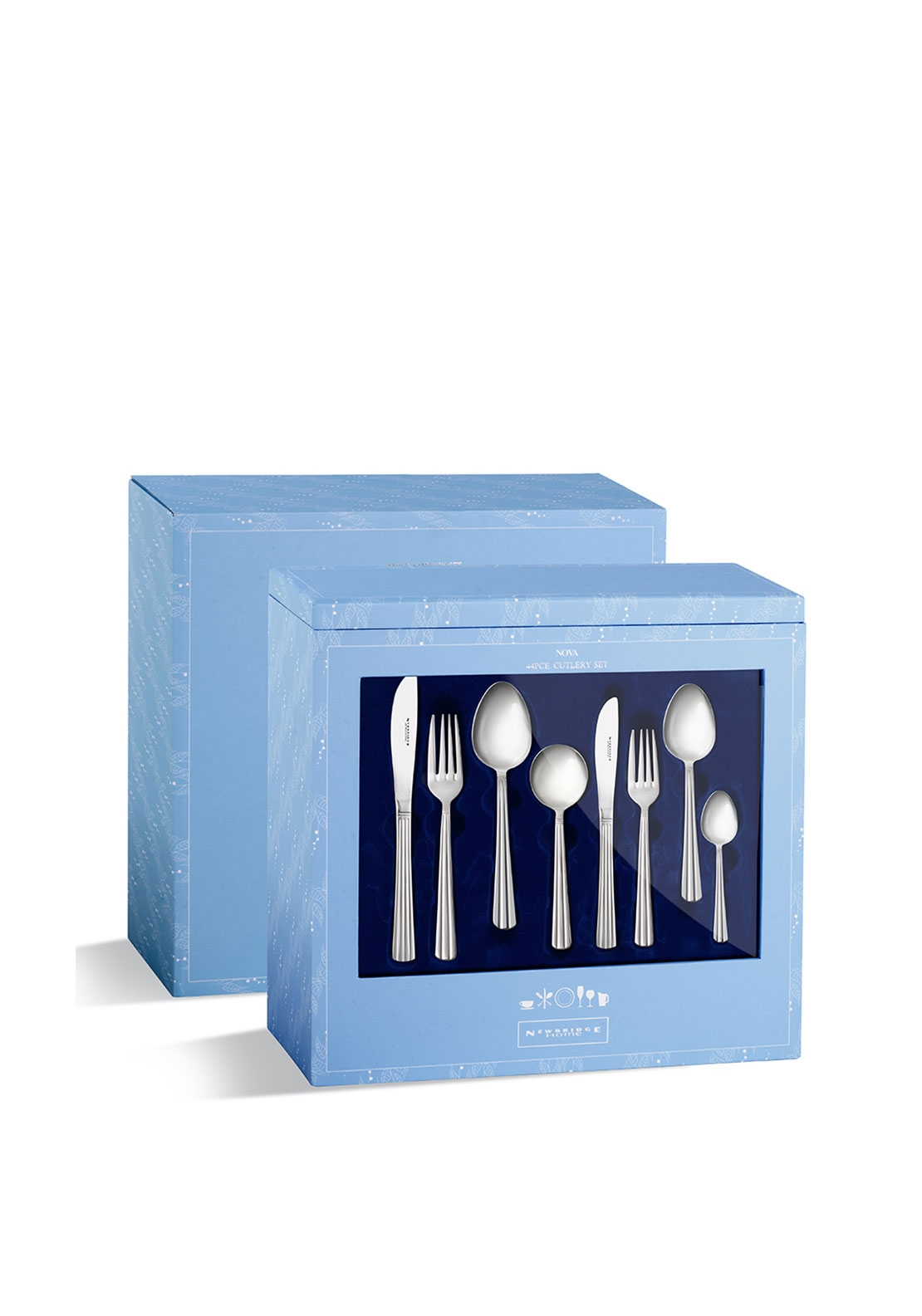 Newbridge Nova 44 Piece Cutlery Set, Silver