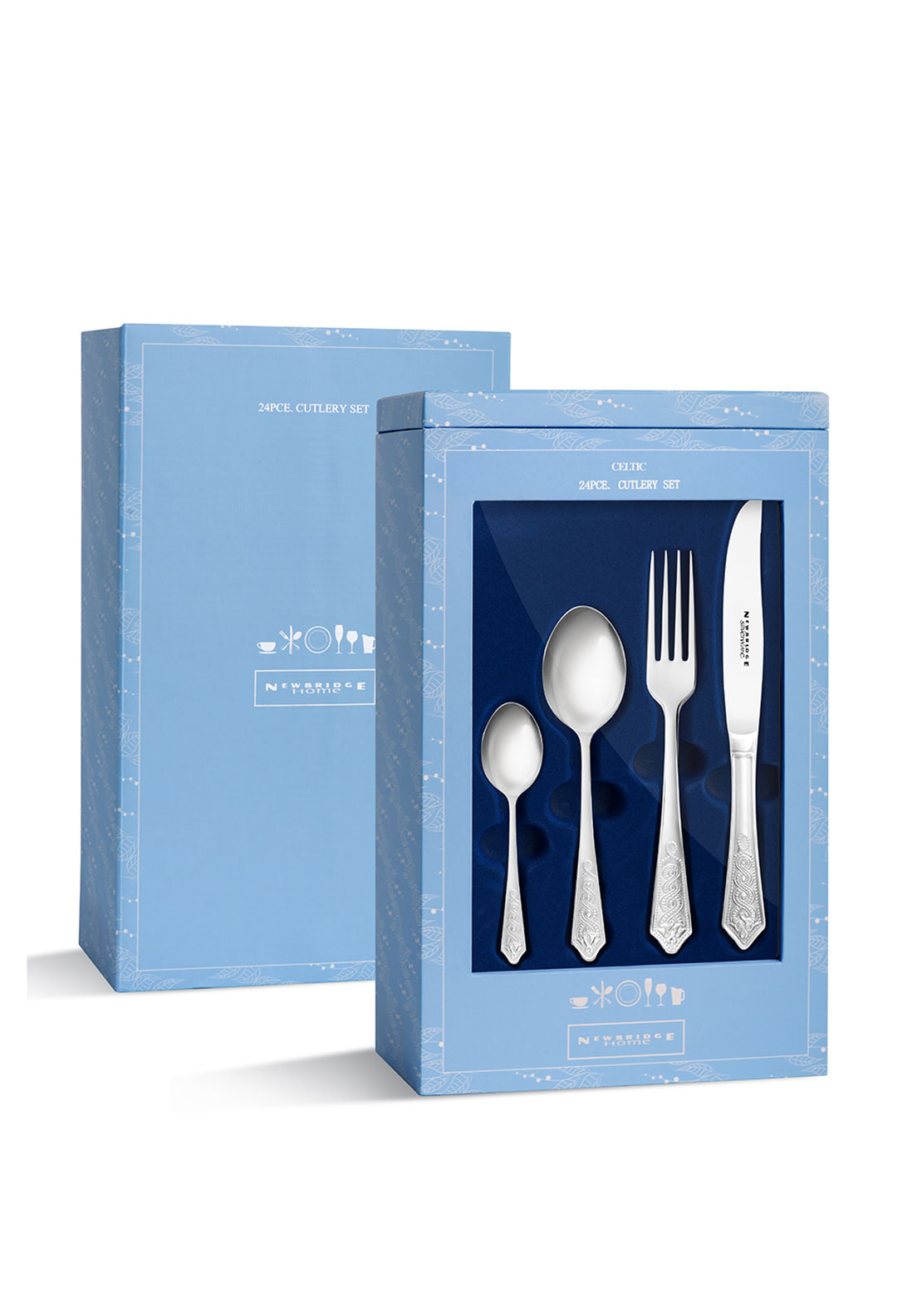 Newbridge Celtic Stainless Steel Cutlery Gift Set, 24pce