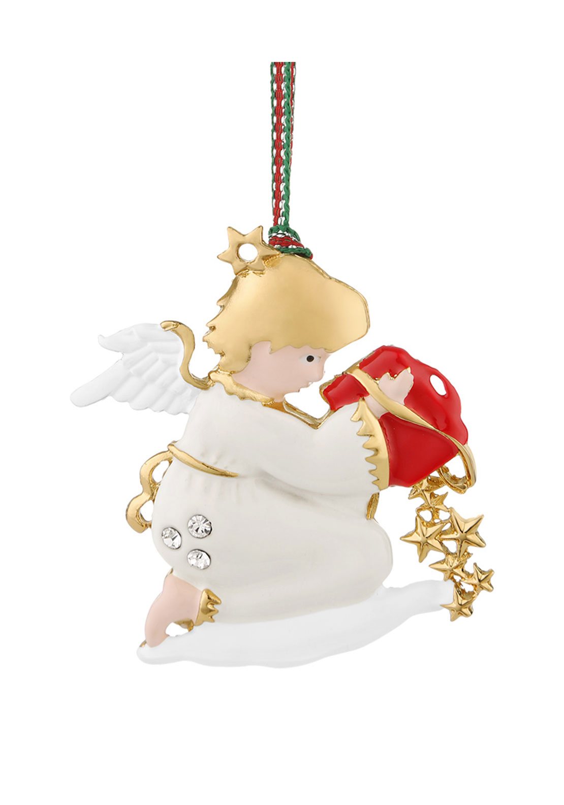 Newbridge Christmas Hanging Angel with Clear Stones Decoration