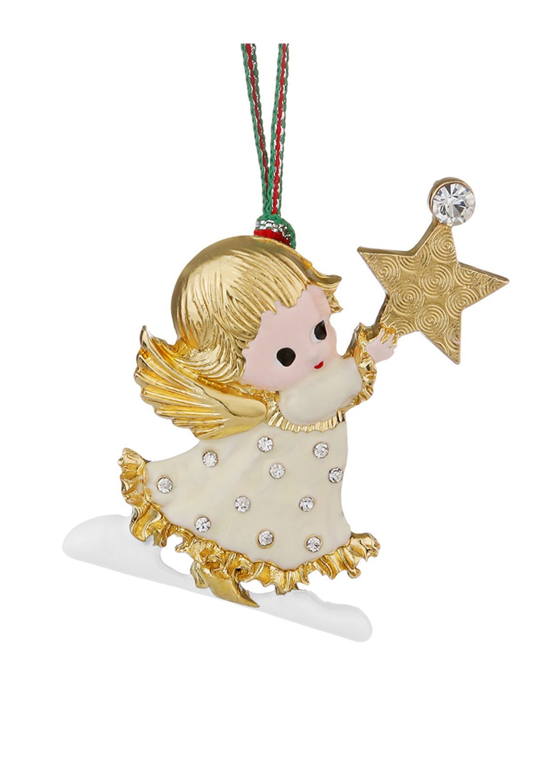 Newbridge Christmas Hanging Angel with Star Decoration