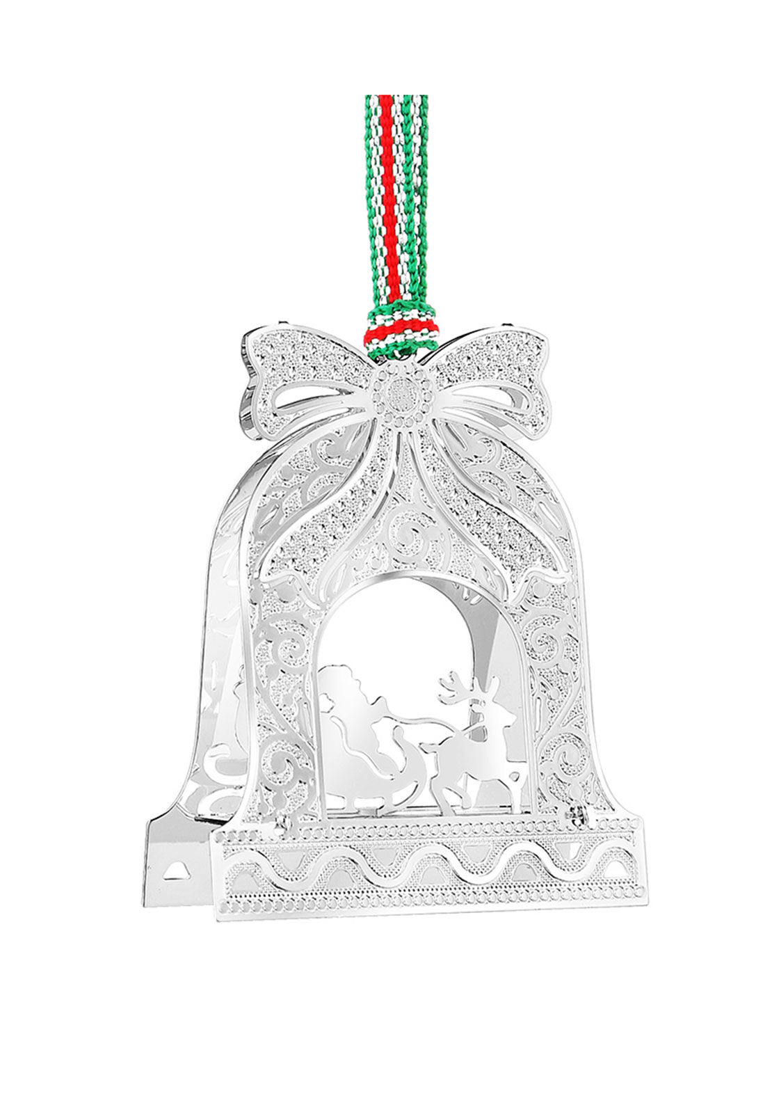 Newbridge Christmas Bell with Santa on Sleigh Hanging Decoration