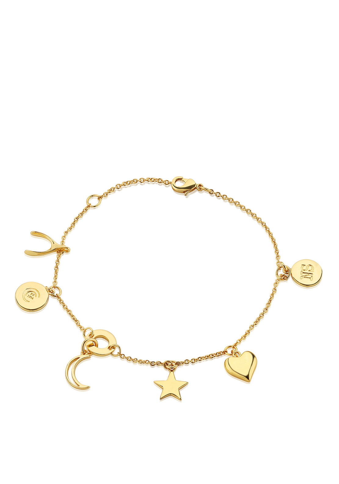 Newbridge Amy Multi Charm Bracelet, Gold