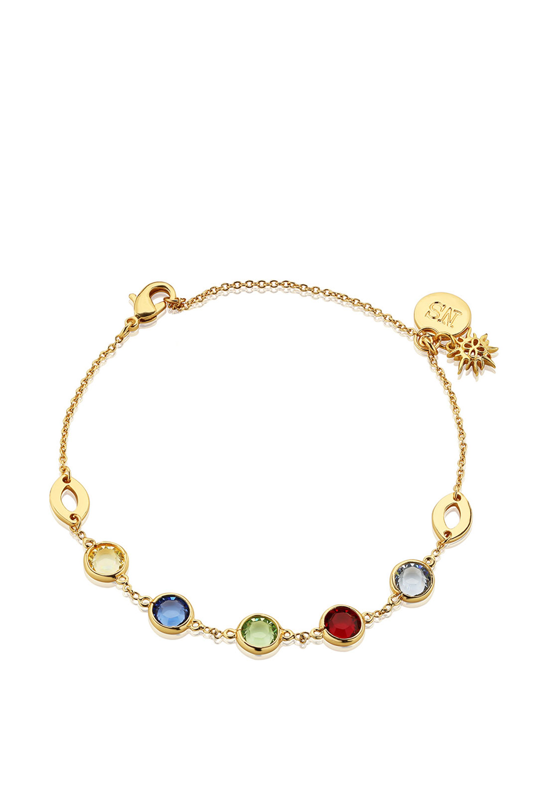 Newbridge Amy Colourful Stone Bracelet, Gold