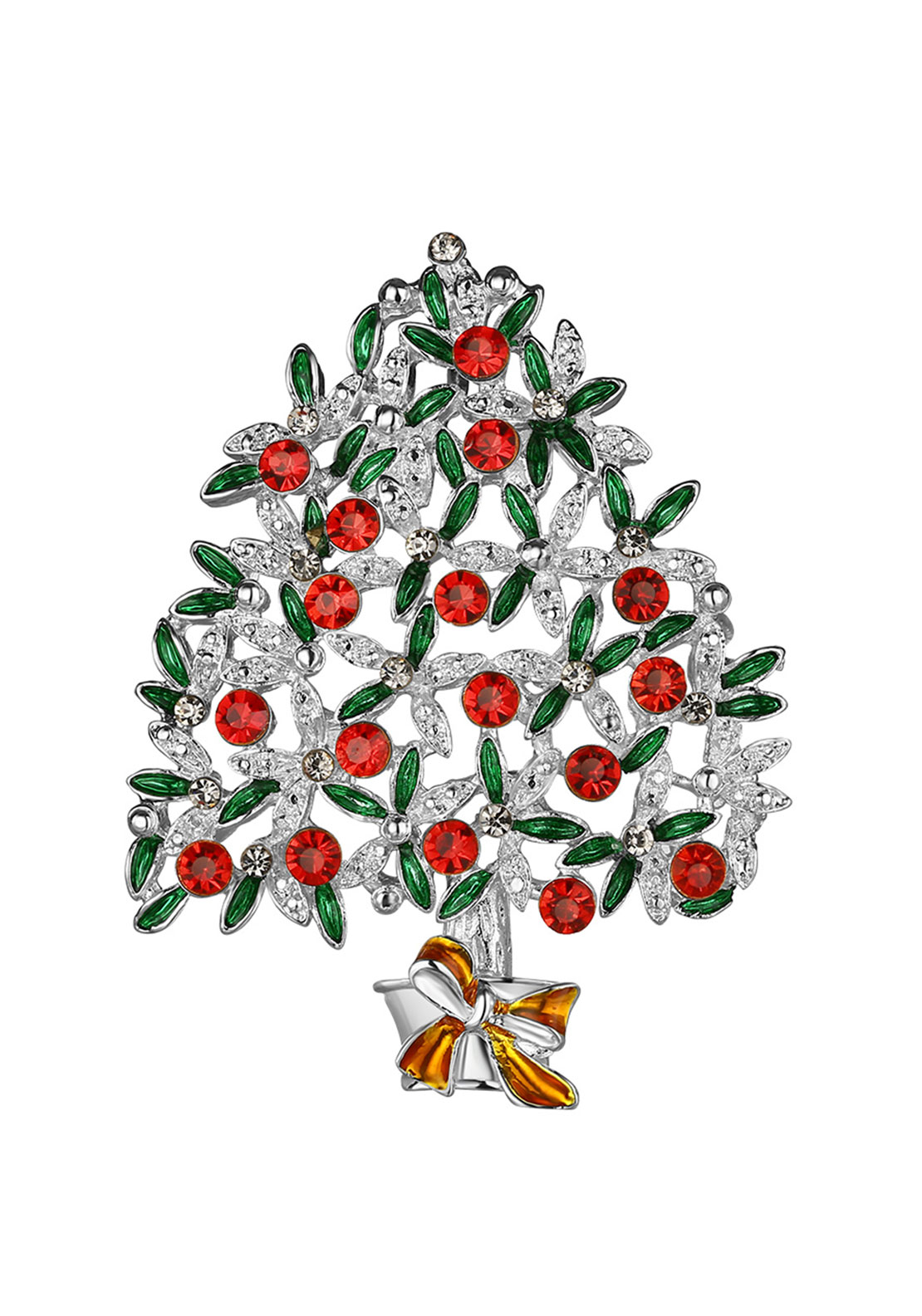 Newbridge Christmas Hanging Tree with Coloured Stones Decoration