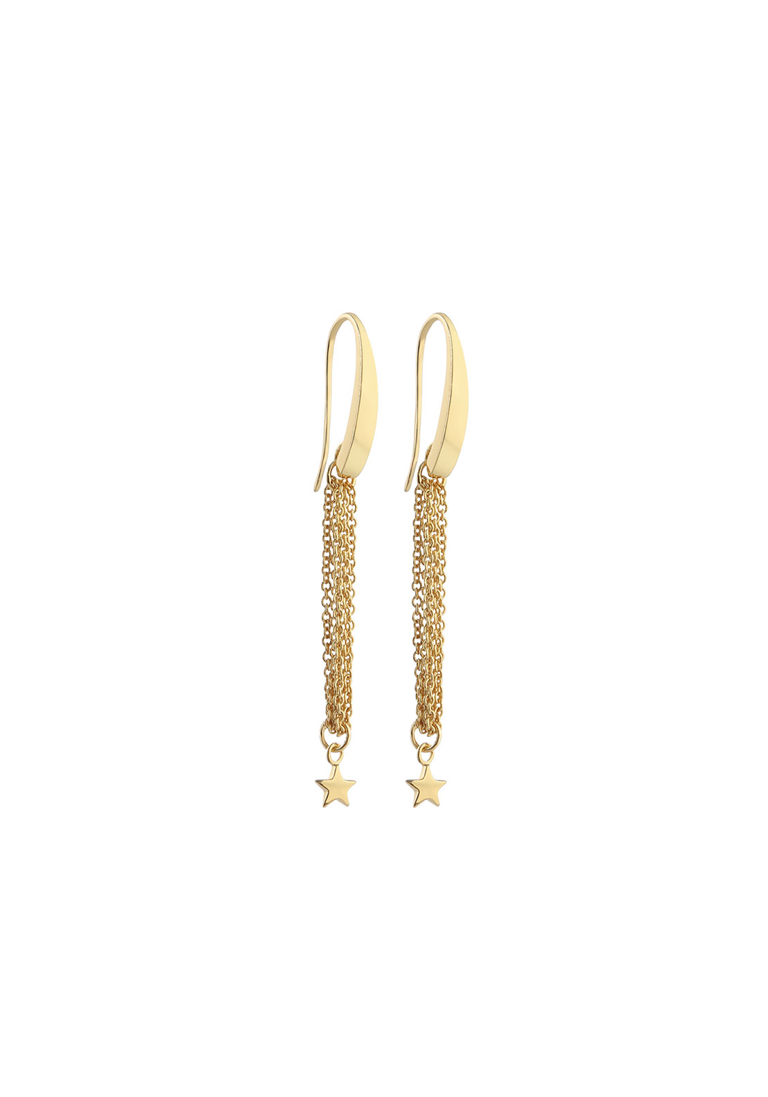 Newbridge Amy Chain Drop Earrings, Gold