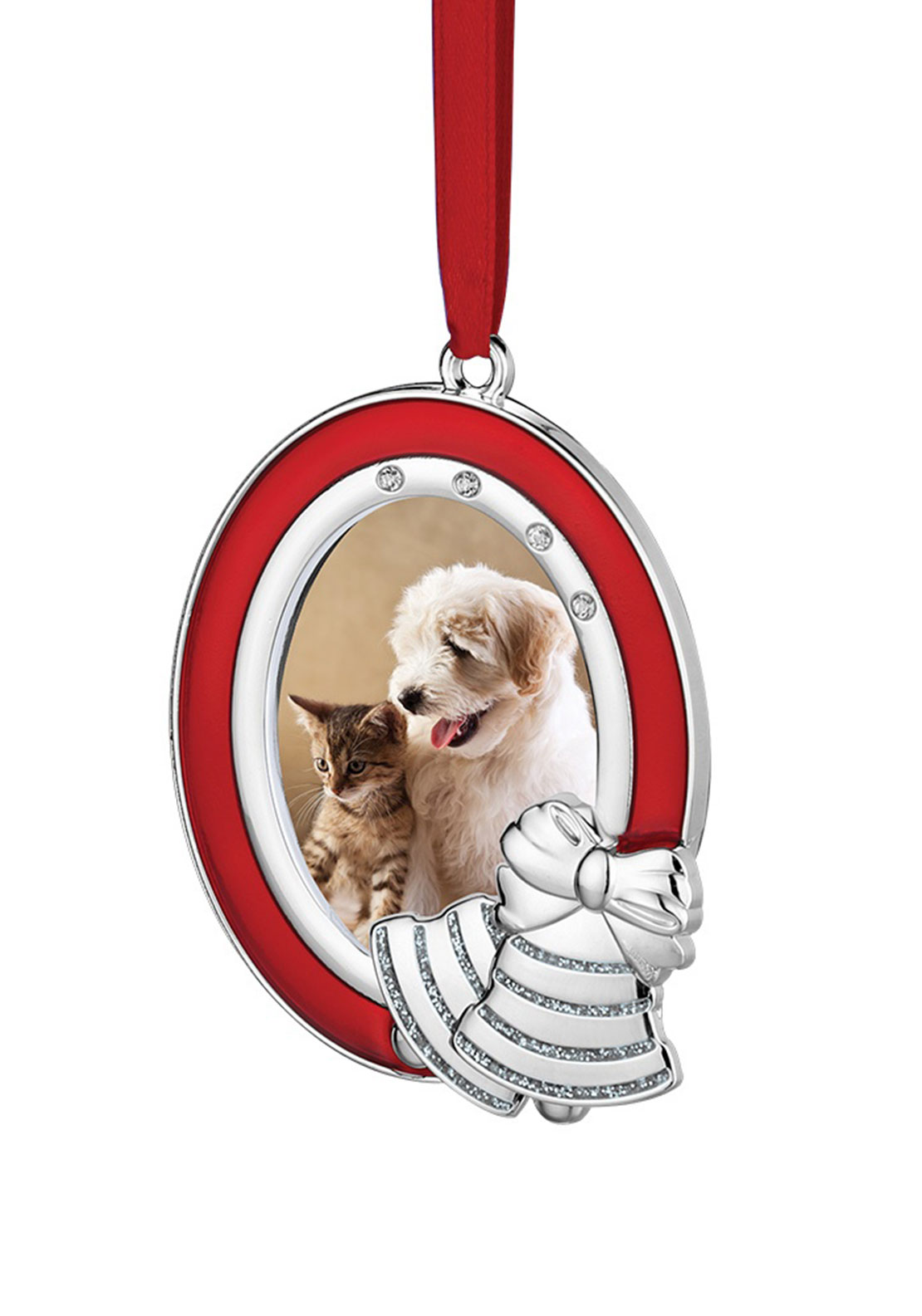 Newbridge Christmas Hanging Photo Frame with Bells Decoration